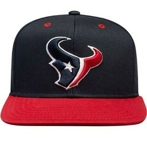 Houston Texans Navy & Red Unisex washed Fitted Hat